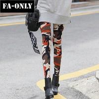 Women Slim Camouflage Graffiti Stretch Leggings Army Print Pants Free Shipping c1420