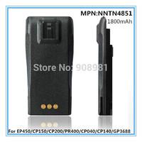 Free shipping 10pcs/lot High quality Nimh 1800mAh Rechargable battery two way radio battery for Motorola CP040/EP450 FG-NNTN4851