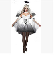 Halloween Free shipping white devil and angel Halloween ghost bride clothes RPG