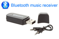 USB Bluetooth Music Receiver Wireless Speaker Adapter 3.5mm For Car Radio Stereo Audio for iPhone 4S 5 6 Mp3 HIFI free shipping