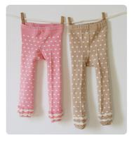 Baby Girls Cotton Leggings Spring New Arrival Cute Style Children  Fashion Polka Decoration Elastic Waist Clothing 12pcs/LOT