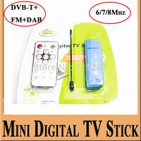 Mini Smart  Digital TV Stick USB2.0 DVB-T&RTL-SDR Receiver RTL2832U & R820T2 Tuner DVB-T+FM+DAB for android mini pc 2pcs/1lot