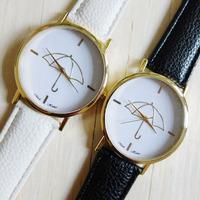 New 2014 High Quality PU Leather Brand Quartz Women Dress Watch Casual Ladies Women Watches Umbrella Pattern WristWatch