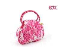 The trend of cotton prints bag vintage double layer casual tote bag portable mummy bag coin purse women's handbag