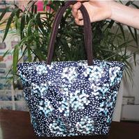 Quinquagenarian waterproof cotton prints handbag bag dumplings large capacity lunch box bag double layer thickening insulation