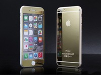 """Premium Mirror Electroplating Tempered Glass Screen Protector For iPhone 6 plus 5.5"""" Front and Back Free Shipping"""
