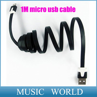 For Samsung Galaxy HTC Android phone Colorful 1M V8 micro usb data cable Charging Cable cords line 50pcs/lot