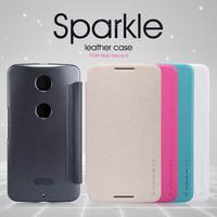 Nillkin Brand Sparkle Series pu Leather Flip Case For Motorola MOTO Nexus 6, with retail box