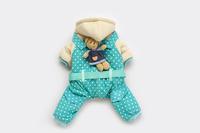 Good Quality Blue Bear Cute Winter Dog Pet Clothing Jacket Fourlegs Coat