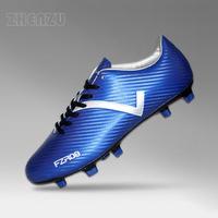 Hot new product Size40-45 Blue+Black high quality men soccer shoes botas de futbol cheap soccer cleats for 2015