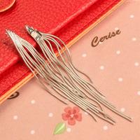 Outstanding Tassel Pendant Earring Girl Eardrop Dangle Long Chain V3NF