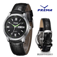 Luminous Sunday calendar waterproof positive brand Korean steel business really belt male table quartz watch men watch men