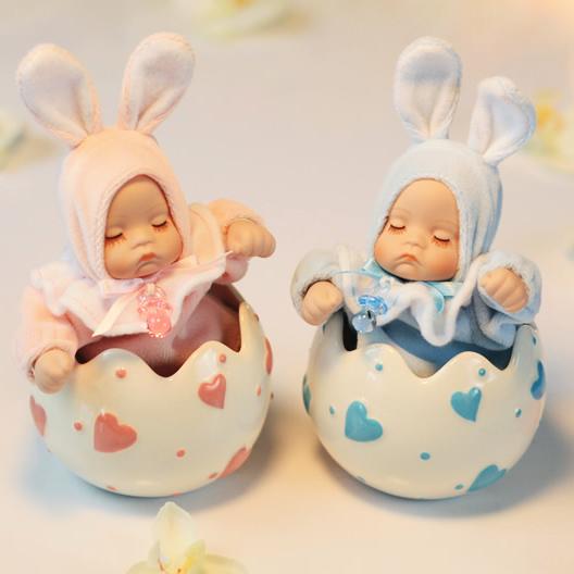 Coelho do bebê caixa de música caixa de música boneca cabeça bobble cerâmica presentes de natal namorada mel meninas presentes(China (Mainland))