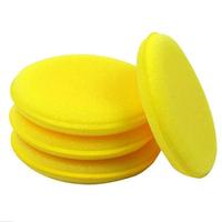 12pcs/lot Car polishing sponge waxing sponge round pressure superdense edge polishing small sponge free shipping