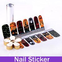 Nail Art Water Transfers Stickers Nail Decals Halloween Hallowmas Pumpkin