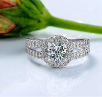 Fashion Zirconia Stone Silver Rings for Women Engagement Girls Valentine's Gift,Fine Beautiful Star Charm Jewelry Big Sale J510P