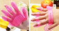 Hot sale 2014 Pet Dog Grooming Bath Massage Glove Brush comb - LX011