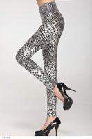 Fashion Women pants adventure time Fitness Sexy slim Silver Gold Net Print Leggings punk LC79206 Free Shipping