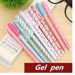 10 stück/lot gelschreiber kawaii schreibwaren korean blume canetas escolar papelaria geschenk büromaterial schulbedarf