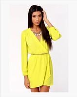 casual women summer vestidos roupas femininas dress 2014 cheap clothes china woman long sleeve dress chiffon dresses B-2080