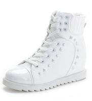 Zapatillas Deporte Mujer Fashion Women Wedge High Heels Sneakers Black Platform High Top Sport Shoes Woman Sapatos Femininos