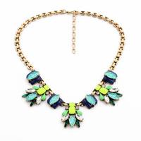 Collares Mujer Wholesale Bijoux Imitation Gemstone Dress Jewelry Femme Boho Chic Necklace