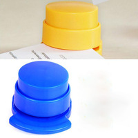 Random Color!!1 PCS Practical Staple Free Stapler Paper Binding Binder Stapless Stationery