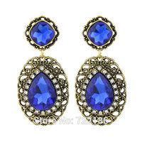 Brincos Bijuterias Imitation Gemstone Earrings Brincos Vintage Fashion New 2014 Designer Earring