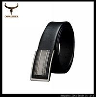 popular new design metal buckle black genuine leather belt for men strap fashion deisgn cowhide leather strap belt