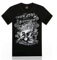 Hot 2015 Summer Basic Men Women Undershirts Tee Personality Streetwear Cotton Fabric T Shirt Cool Skulls Print Hip Hop T-Shirt