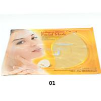 Collagen Face Mask  Face Care 2pcs Collagen Bionic Crystal Golden Facial Mask  Whitening Mask