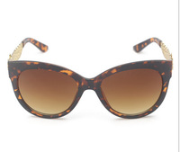 T14122405, Tianluse, 6 colors, Coffee Lepoard Frame Resin Round Lens UV proof Sun Block New Sunglasses , Free Shipping