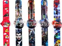 free shipping MIX DHL1000PCS/LOT FROZEN/PEPPA PIG/SOFIA/VIOETTA/Dragon/ The Avengers children watch, best gift ,Slap watch