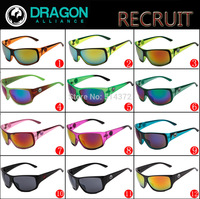 WG with case new fashion model sunglasses DRAGON RECRUIT 920 fashion12 colors men sport sun glasses High quality free shipping