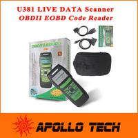 100% Original Memoscan U381 Live Data Code Reader OBD2 OBDII EOBD Car Vehicle Live Data Scanner Diagnostic Scan LCD Display