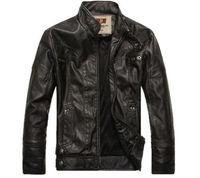 2014 NEW Fashion Mens leather motorcycle coats jackets washed leather coat