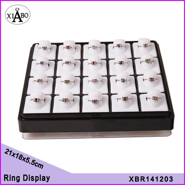 Free Shipping new design 20 ring raiser holders Tray Organizer Shopping Showcase display(China (Mainland))