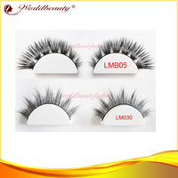 Free shipping top quality 100% siberian real mink fur strip lashes