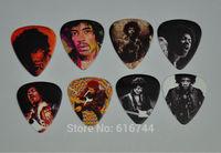 New 32pcs/lot Medium 0.71mm Gauge Guitar Picks 2-side Color Printed Jimi Hendrix Collection