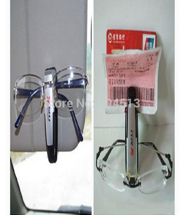 New Pen Holder Clip for Car Auto Vehicle multifuction accessory Sun Visor Sunglasses Eye Glasses Card Free Shipping(China (Mainland))