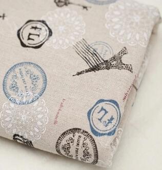2014 New Arrival New Fabrics Tecido Words Print Fluid Primary Color Zakka Coarse Hemp Table Cloth Curtain Fabric 100cm*150cm(China (Mainland))