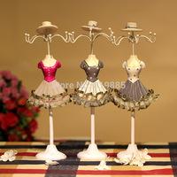 2014 New Fashion jewelry holder jewelry display rack shelf model princess dress necklace earrings frame gift