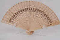 F09879 Delicate Hollowed-out Carved Wooden Chinese Art Folding Hand Fan Fragrant Best Gift + Free Ship