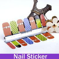 Cartoon Cutie Nail Art Tips Sticker Decal Full Wraps Glitters Mesh Dot Bow Design