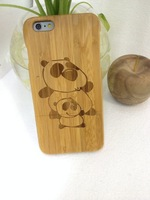 NEW Genuine Tree Natural Real Bamboo Wood Wooden Indian tribes Double Hard Case for iPhone 6 4.7 inch Custom Design capa celular