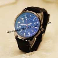 Wholesale 2015 New Fashion Blue Glass Watch Army big Cool Silicone Man Military Sports Watch Women Dress Wristwatches