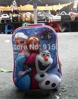 New Arrival Girls Cartoon Travel Trolley Bags Hardside Luggage Frozen Schoolbag
