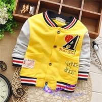 2015 Spring and Autumn  Child Boys Patchwork A cardigan coat,Children cardigan Jacket,4pcs/lot, V1552