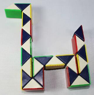 2015 New Twist Snake Cube Puzzle Magic Toy Novetly Magic Cubes Hot Retro Educational Intelligence Toys For Kids Gifts(China (Mainland))