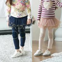 Winter Baby Kids Girls Legging Pants Gauze Culottes Tutu Skirt Ruffle Leggings Underwear 2-7Y Freeshipping